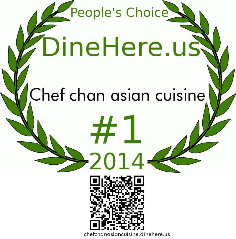 Chef chan asian cuisine DineHere.us 2014 Award Winner